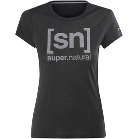 super.natural Essential I.D. - T-shirt manches courtes Femme - noir